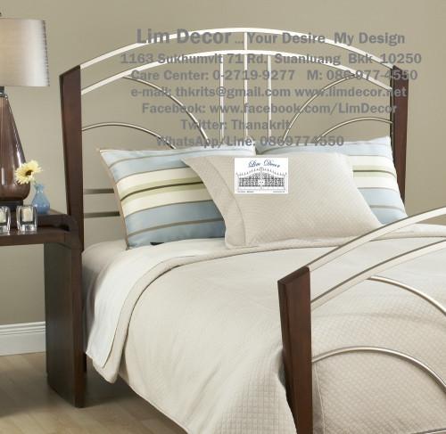 เตียงนอนเหล็กดัดอิตาลี่ร้อทไอร์อ้อนสั่งทำ สไตล์ยุโรป Antique Wrought Iron Steel Designed Bed 1