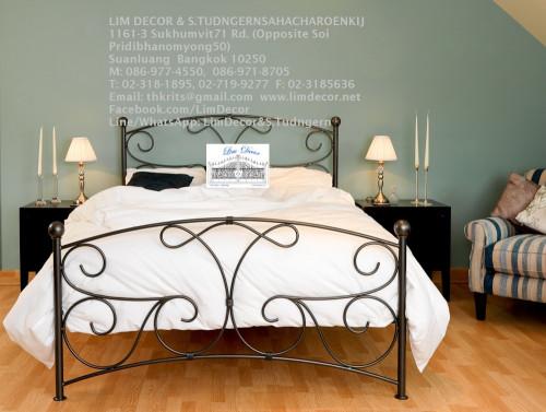 เตียงนอนเหล็กดัดอิตาลี่ร้อทไอร์อ้อนสั่งทำ สไตล์ยุโรป Antique Wrought Iron Steel Designed Bed 2