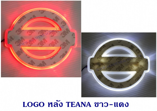 LOGO มีไฟ หลัง TEANE สีขาว-แดง