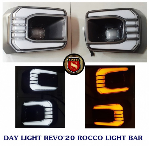 DAY LIGHT TOYOTA REVO 2020 ROCCO LIGHT BAR โตโยต้า รีโว่ 2020 ร็อคโค่ ไลท์บาร์