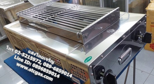 เตาปิ้งย่างใช้แก๊ส 2 หัวเตา ยี่ห้อบิ๊กซัน รุ่น BBQ-932_Copy
