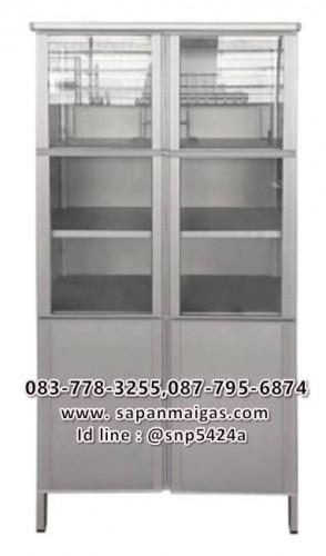 ตู้กับข้าว SANKI รุ่น CB-AL6-40 ขนาด 82.8 x 47.3 x 172 ซม. สีอลูมิเนียม