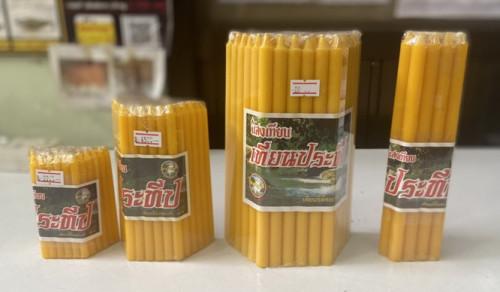 เทียนหนัก 1 บาท ตราประทีป  สีเหลือง และ เทียนหนัก50 สตางค์  ( เบอร์ 21 และ เบอร์ 15 ) 8