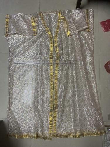 เสื้อคลุมนาค ผ้าลูกไม้ สีทอง / เสื้อนาค 5