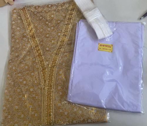 เสื้อคลุมนาค ผ้าลูกไม้ สีทอง / เสื้อนาค 6