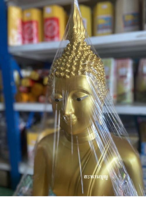 พระพุทธรูป พระทองเหลืองแท้ หน้าตัก 19 นิ้ว ขัดเงา  และ พ่นทอง 9