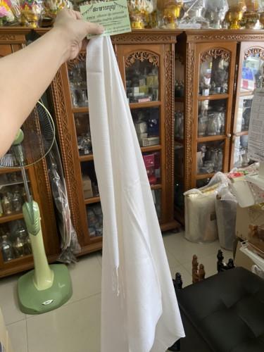 ผ้าคลุมไหล่แม่ชี  ผ้าบางเบา ซักง่ายแห้งไว คลุมไหล่ได้ยาว + หมวกไหมพรมถักมือ กันหนาว 8
