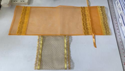 ผ้าลูกไม้ทอง สำหรับคาดผ้าไตร ตกแต่งงานบวช งานกฐิน ถวายพระสวยๆ 4