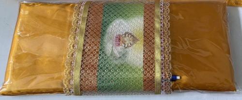 ผ้าลูกไม้ทอง สำหรับคาดผ้าไตร ตกแต่งงานบวช งานกฐิน ถวายพระสวยๆ 1