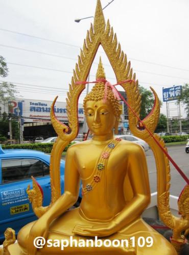 พระพุทธชินราช พระพุทธรูป  ขนาดหน้าตัก 40 นิ้ว  มีงานหลายเกรด  ( ทองเหลืองแท้ / อัลลอยด์ / ไฟเบอร์ )