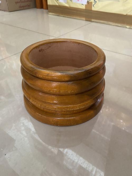 ฐานไม้ ฐานเทียนพรรษา ขาเทียนงานหัตถกรรมไทย งานไม้  สะพานบุญ  ขาไม้ 1