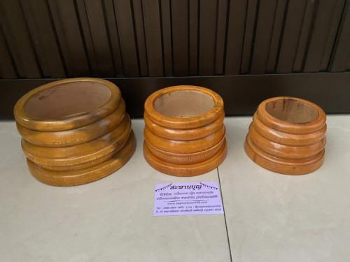 ฐานไม้ ฐานเทียนพรรษา ขาเทียนงานหัตถกรรมไทย งานไม้  สะพานบุญ  ขาไม้