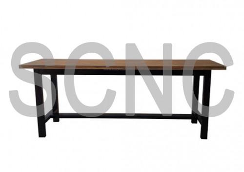 TBE1224-60 โต๊ะเหล็กประลองงานช่าง โต๊ะฝึกงาน โต๊ะตะไบ ขนาด กว้างx ยาวxสูง 120 x 240 x 80 CM แผ่นพื้น