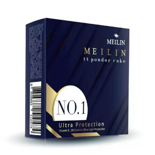 MP680 : Meilin UV Powder Cake 11.5g เมลิน ยูวี เพาเดอร์ แป้งเมลิน กันน้ำ ตลับจริง แถม Hair Silky