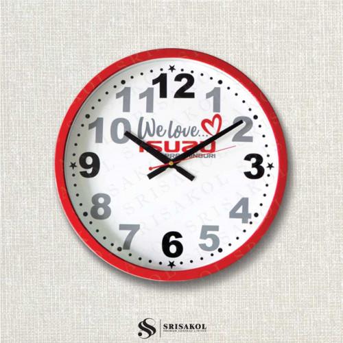 นาฬิกาแขวน 15 นิ้ว ขอบเล็กสีแดง รหัส A2103-6C