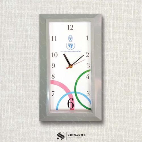 นาฬิกาแขวนสี่เหลี่ยม ขอบสีเทา รหัส A2102-27C