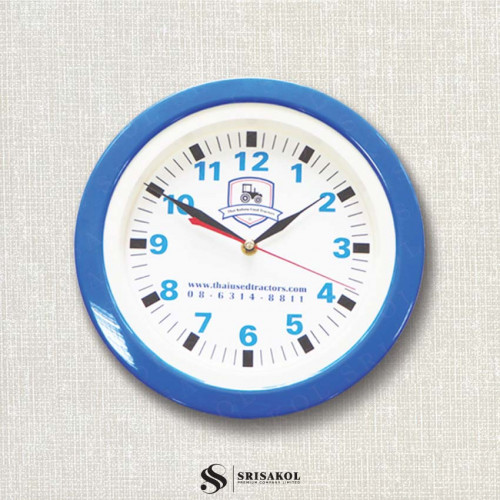 นาฬิกาแขวน 11 นิ้ว ขอบสีน้ำเงิน รหัส A2102-4C