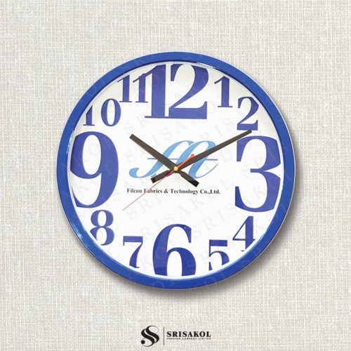 นาฬิกาแขวน 15 นิ้ว ขอบเล็กสีน้ำเงิน รหัส A2103-4C