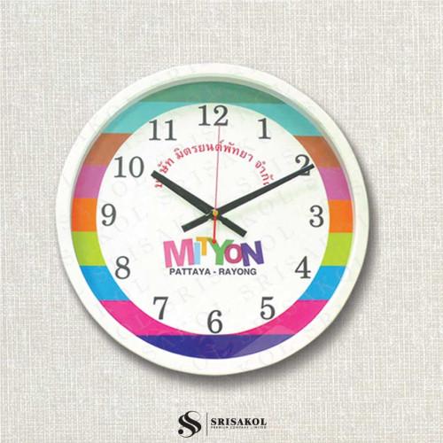 นาฬิกาแขวน 15 นิ้ว ขอบเล็กสีขาว รหัส A2103-8C