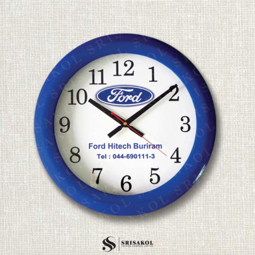นาฬิกาแขวน 15 นิ้ว ขอบหนาสีน้ำเงิน รหัส A2103-7C