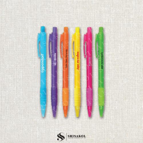 ปากกาลูกลื่น คละสี รหัส A2119-4P
