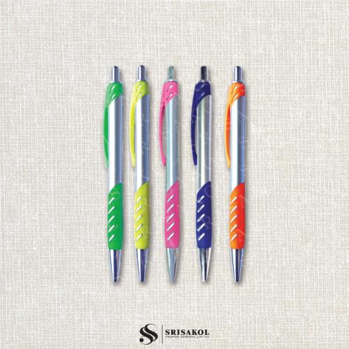 ปากกาลูกลื่น คละสี รหัส A2119-17P