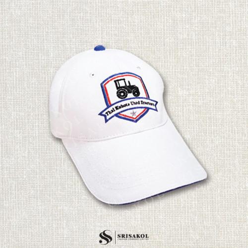 หมวก Cap 6 ชิ้น สีขาว ปีกแซนวิช สีน้ำเงิน รหัส A2123-7H