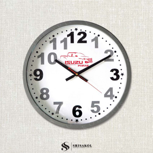 นาฬิกาแขวน 15 นิ้ว ขอบเล็กสีเทา รหัส A2103-1C