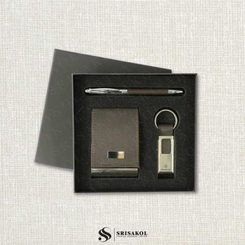 ชุดปากกา+พวงกุญแจ+ตลับนามบัตร นำเข้า รหัส A2126-14I