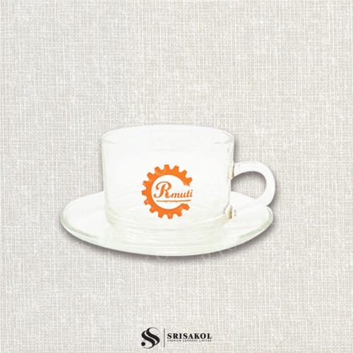 ชุดแก้วกาแฟ พร้อมจานรอง รหัส A2115-18GK