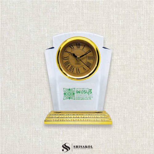 นาฬิกาตั้งโต๊ะ  เรือนใส ฐานสีทอง รหัส A2104-6C