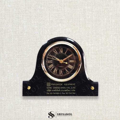 นาฬิกาตั้งโต๊ะ เรือนดำ รหัส A2104-12C
