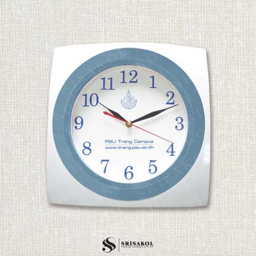 นาฬิกาแขวนสี่เหลี่ยม 12 นิ้ว ขอบขาว-เทา  รหัส A2044-1C