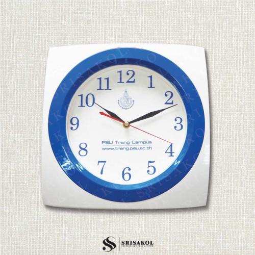 นาฬิกาแขวนสี่เหลี่ยม 12 นิ้ว ขอบขาว-น้ำเงิน  รหัส A2102-2C