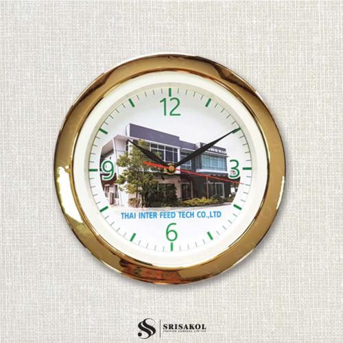 นาฬิกาแขวน 11 นิ้ว ขอบชุบทอง รหัส A2044-11C