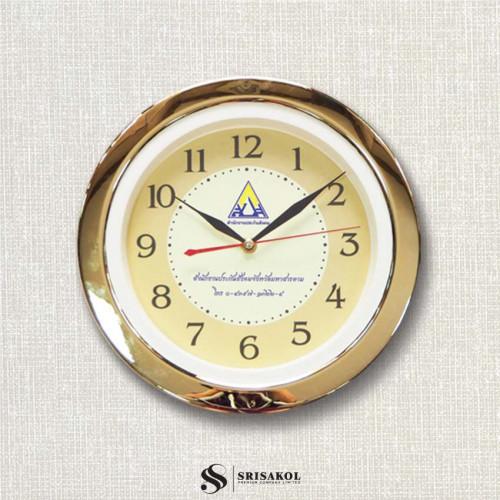 นาฬิกาแขวน 11 นิ้ว  ขอบชุบทอง รหัส A2102-7C