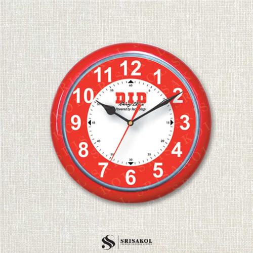 นาฬิกาแขวน 13 นิ้ว ขอบสีแดง รหัส A2045-11C