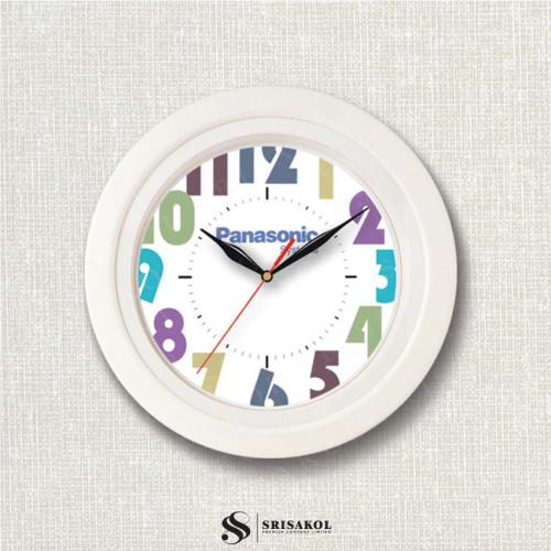 นาฬิกาแขวน 11 นิ้ว  ขอบสีขาว รหัส A2102-6C