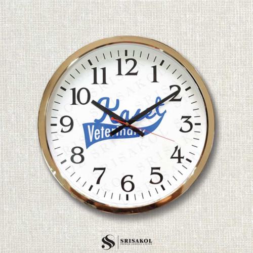 นาฬิกาแขวน 15 นิ้ว ขอบชุบทอง รหัส A2103-5C