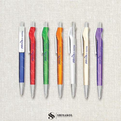 ปากกาลูกลื่น คละสี รหัส A2119-19P