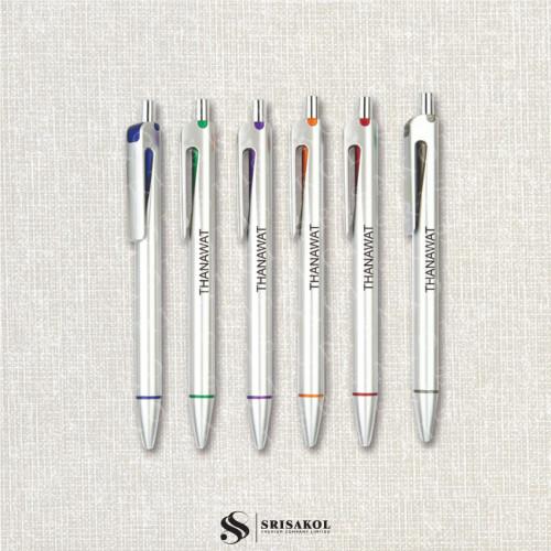ปากกาลูกลื่น คละสี รหัส A2119-23P