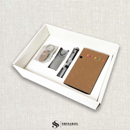 ชุด Cardboard Desktop + Book Lamp + พวงกุญแจที่เปิดขวด + ปากกา 5 in 1 พร้อมกล่องฝาทึบ รหัส A2116-8SU
