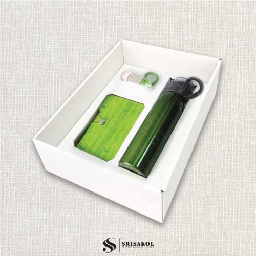 ชุดกระบอกน้ำ + Sticky Note Book + พวงกุญแจ พร้อมกล่องฝาทึบ รหัส A2117-2SU