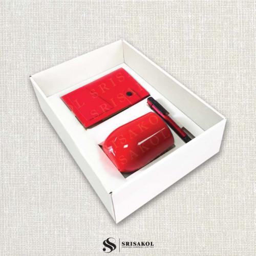 ชุดแก้วน้ำ เก็บร้อน/เย็น + Sticky Note Book + ปากกา 4 in 1 พร้อมกล้องฝาทึบ รหัส A2117-3SU