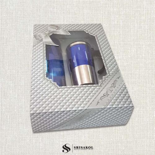 ชุดกระติกน้ำ+แก้วน้ำ เก็บร้อน/เย็น พร้อมกล่อง รหัส A2114-5SP