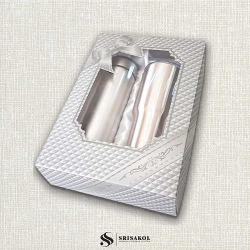 ชุดกระติกน้ำ + แก้วน้ำ เก็บร้อน/เย็น พร้อมกล่อง รหัส A2114-7SP