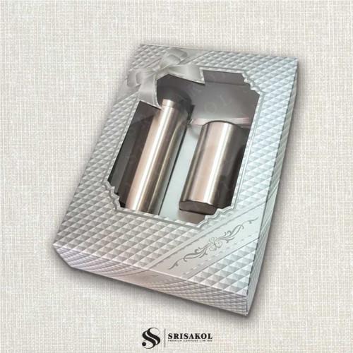 ชุดกระติกน้ำ + แก้วน้ำ เก็บร้อน/เย็น พร้อมกล่อง รหัส A2114-8SP