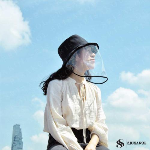 หมวก + หน้ากากพลาสติก แบบถอดได้ รหัส A2148-9HF
