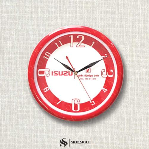 นาฬิกาแขวน 10.2 นิ้ว ขอบสีแดง รหัส A2102-12C