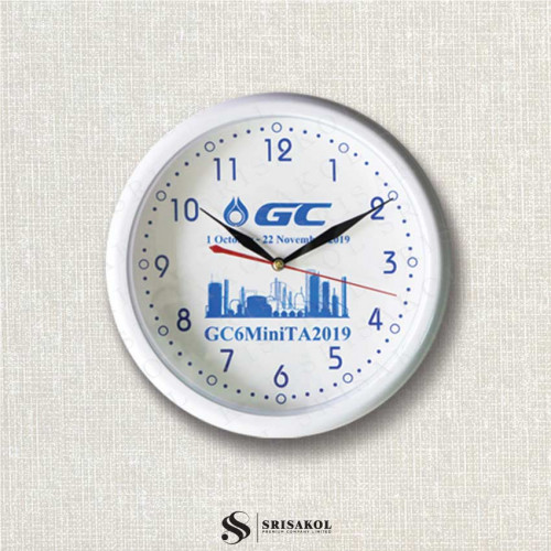 นาฬิกาแขวน 10.2 นิ้ว ขอบสีขาว A2102-14C